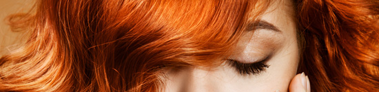 Close-Up of Curly Orange Hair
